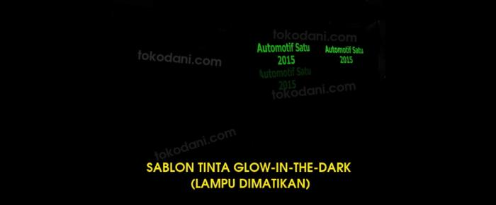 Contoh Sablon Kaos dengan Tinta Glow In The Dark