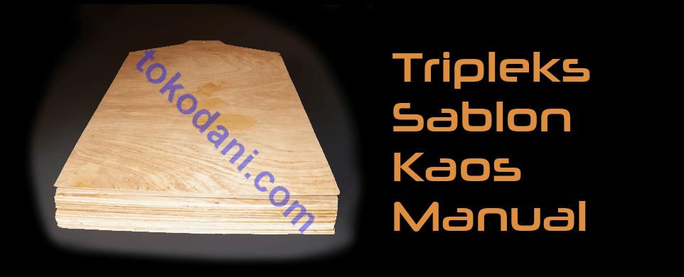 Papan Tripleks Sablon Kaos