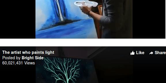Penggunaan Tinta Glow In the Dark untuk Melukis