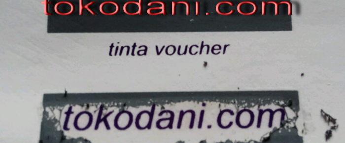 Tinta Voucher untuk Kartu Undian Berhadiah, Game