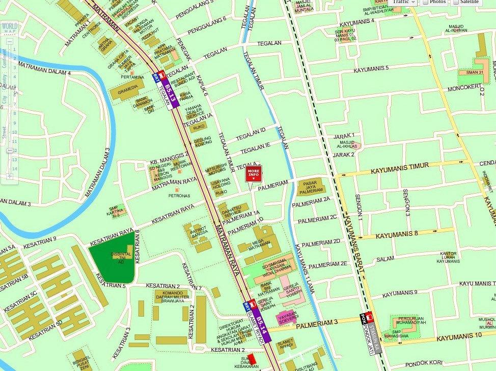 Peta Lokasi Toko DANI yang baru