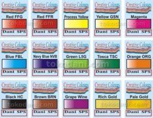 Warna pigment sablon kaos merek Creative Colours